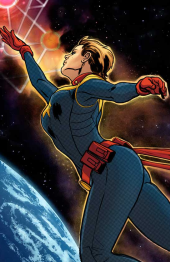 Captain Marvel sans Helmet by Victor Ibanez and Laura Martin