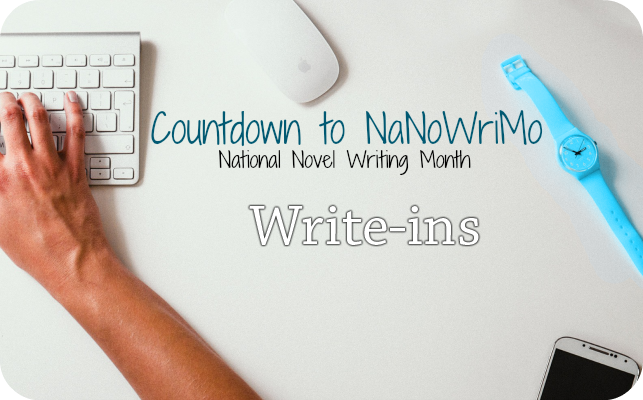 Write-Ins – Countdown to National Novel Writing Month